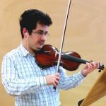 Ivan Knezevic rehearsing